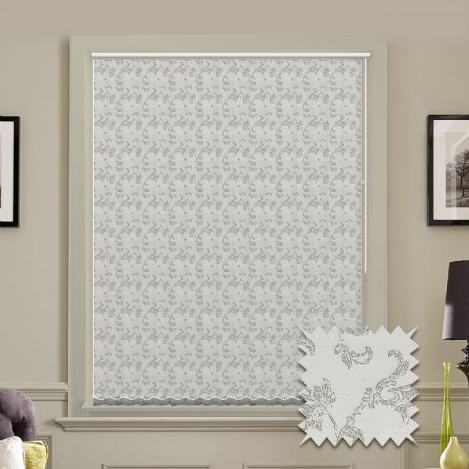 Made to Measure Crystal Silver Pattern Vertical Blind - Just Blinds